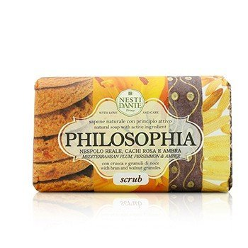 Nesti Dante Philosophia Natural Soap - Scrub - Mediterranean Plum, Persimmon & Amber With Bran & Walnut Granules  250g/8.8oz