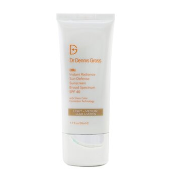 Dr Dennis Gross Instant Radiance Sun Defense Sunscreen SPF 40 - Light-Medium  50ml/1.7oz