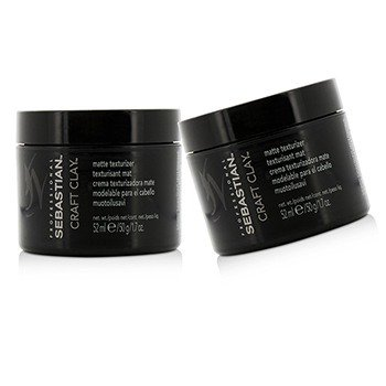 Sebastian Craft Clay Remoldable Matte Texturizer Duo Pack  2x52ml/1.7oz
