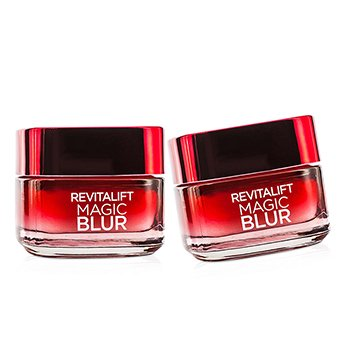 L'Oreal RevitaLift Magic Blur Duo Pack - Blurring & Anti-Aging Moisturiser  2x50ml/1.7oz