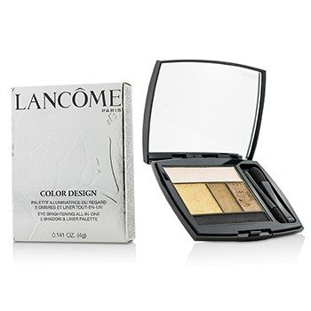 Lancôme Color Design 5 Shadow & Liner Palette - # 103 Golden Frenzy (US Version)  4g/0.141oz