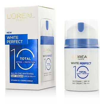 L'Oreal White Perfect Total 10 Whitening Day Cream SPF30 (Exp. Date: 04/2017)  50ml/1.69oz