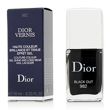 Christian Dior Dior Vernis Couture Colour Laca de Uñas Brillante Como Gel & de Larga Duración - # 982 Black Out  10ml/0.33oz