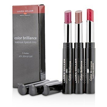 Laura Geller Color Brilliance Lustrous Lipstick Trio  3x 1.8g/0.06oz