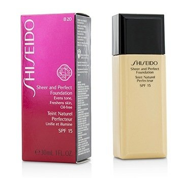 Shiseido Sheer & Perfect Foundation SPF 15 - # B20 Natural Light Beige  30ml/1oz