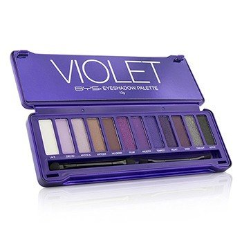 BYS Eyeshadow Palette (12x Eyeshadow, 2x Applicator) - Violet  12g/0.42oz