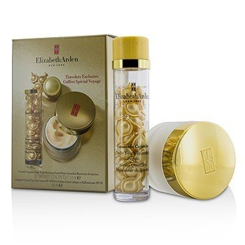 Elizabeth Arden Ceramide Set: Ceramide Capsules Daily Youth Restoring Serum 30caps + Ceramide Lift And Firm Day Cream SPF 30 50ml/1.69oz  2pcs