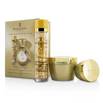 エリザベスアーデン Ceramide Set: Ceramide Capsules Serum 30caps + Ceramide Activation Cream SPF 30 50ml + Ceramide Regeneration Eye Cream 15ml  3pcs