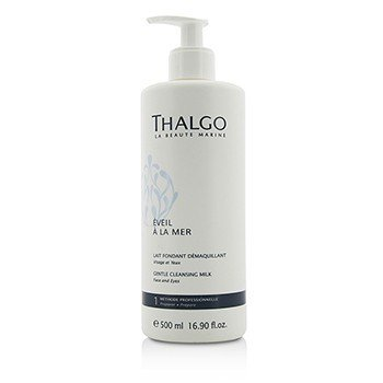 Thalgo Eveil A La Mer Gentle Cleansing Milk (Face & Eyes) - For All Skin Types, Even Sensitive Skin (Salon Size)  500ml/16.9oz