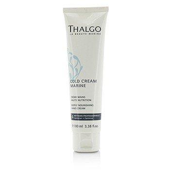 Thalgo Cold Cream Marine Crema de Manos Nutritiva Profunda - Para Manos Secas, Muy Secas (Tamaño Salón)  100ml/3.38oz