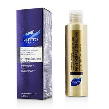 Phyto Phytokeratine Extreme Exceptional Shampoo (Ultra-Damaged, Brittle & Dry Hair)  200ml/6.7oz