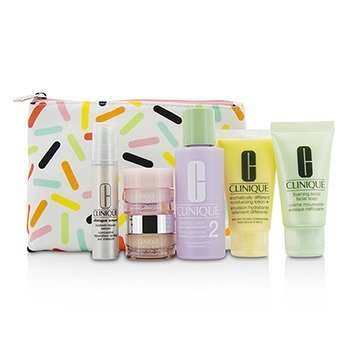 Clinique Travel Set: Sonic Facial Soap + Clarifying Lotion 2 + DDML + Smart Serum + Moisture Surge Intense +  6pcs + 1bag