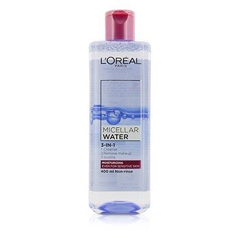 L'Oreal 3-In-1 Agua Micelar (Hidratante) - Incluso Para Piel Sensible  400ml/13.3oz