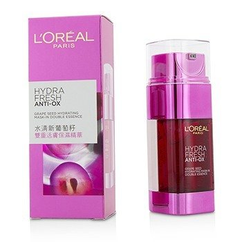 L'Oreal Hydra Fresh Anti-Ox Grape Seed Hydrating Mask-In Double Essence  2x25ml/1.7oz