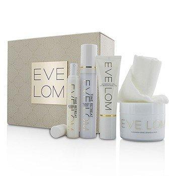 Eve Lom Set Restorative Ritual: Limpiador 200ml+Tratamiento Facial 50ml+Tratamiento de Ojos 15ml+Protección Diaria SPF 50 50ml+Toalla  5pcs