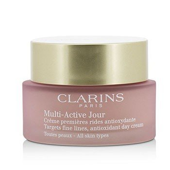 Clarins Multi-Active Day Targets Fine Lines Antioxidant Day Cream - For All Skin Types (Unboxed)  50ml/1.6oz