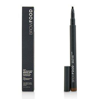 LashFood BrowFood 24H Tri Feather Brow Pen - Dark Brunette  1ml/0.03oz