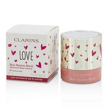 Clarins Skin Illusion Blush - # 01 Luminous Pink  4.5g/0.1oz