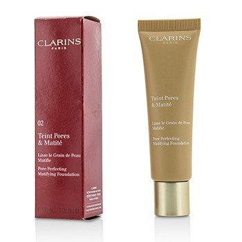 Clarins Pore Perfecting Matifying Foundation - # 02 Nude Beige  30ml/1oz