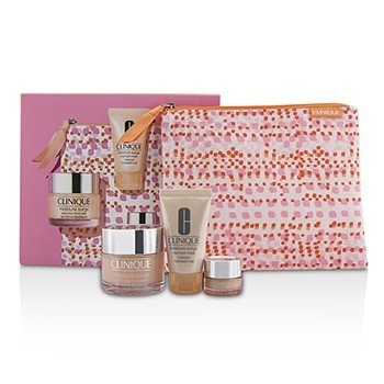 Clinique Moisture Favourites Set: Moisture Surge 50ml + Overnight Mask 30ml + All About Eyes 5ml + Bag  3pcs+1bag