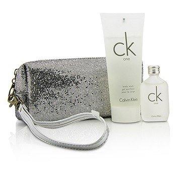 Calvin Klein CK One Coffret: Eau De Toilette 15ml/0.5oz + Jabón Corporal 100ml/3.4oz + Bolsa  2pcs+bag