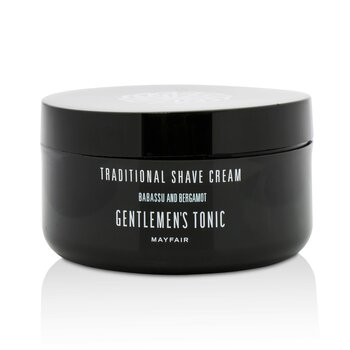 Gentlemen's Tonic Babassu And Bergamot Traditional Shave Cream  125ml/4.4oz
