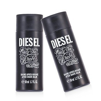 Diesel Only The Brave Tattoo After Shave Balm Duo Pack (Unboxed)  2x50ml/1.7oz