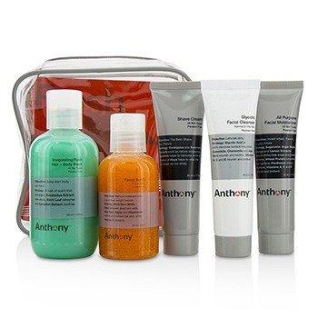 アンソニー Fresh 5 Kit: Facial Scrub 60ml + Shave Cream 30ml + Invigorating Rush Hair & Body Wash 100ml + Glycolic Facial Cleanser 30ml + All Purpose Facial Moisturizer 30ml  5pcs