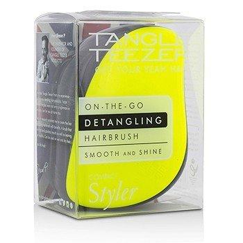 Tangle Teezer Compact Styler On-The-Go Detangling Hair Brush - # Lemon Zest  1pc