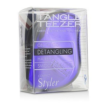 Tangle Teezer Compact Styler On-The-Go Detangling Hair Brush - # Purple Dazzle  1pc