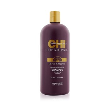 CHI Deep Brilliance Olive & Monoi Optimum Moisture Shampoo  946ml/32oz