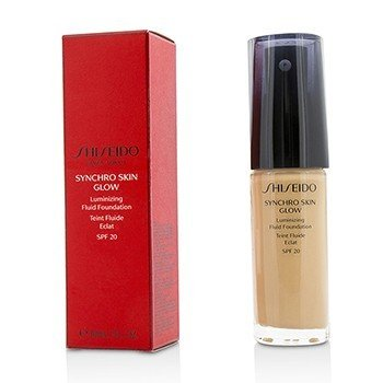 שיסיידו Synchro Skin Glow Luminizing Fluid Foundation SPF 20 פאונדיישן נוזלי - # Rose 3  30ml/1oz