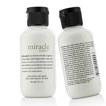 自然哲理  Miracle Worker Miraculous Anti-Aging Lactic Acid Cleanser & Mask Duo Pack (Travel Size)  2x60ml/2oz