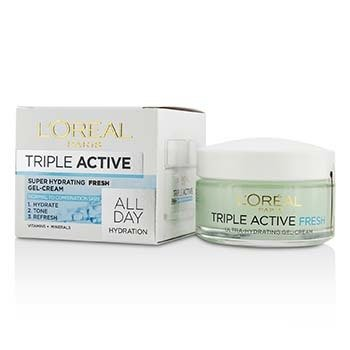 L'Oreal Triple Active Super Hydrating Fresh Gel-Cream - For Normal To Combination Skin  50ml/1.7oz