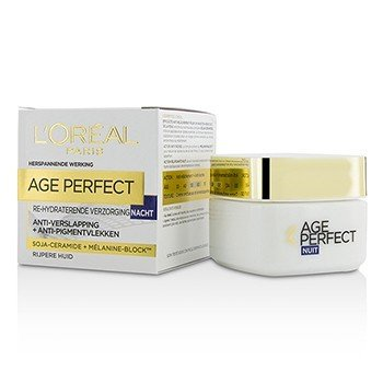 歐萊雅 Age Perfect Re-Hydrating Night Cream - For Mature Skin  50ml/1.7oz