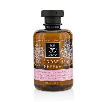 Apivita Rose Pepper Gel de Ducha Con Aceites Esenciales  300ml/10.14oz