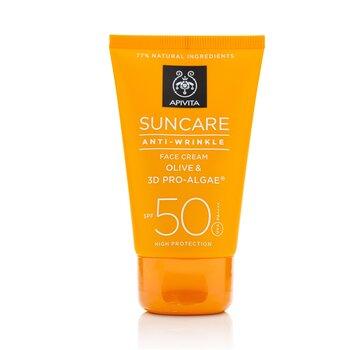 Apivita Crema Facial Cuidado Solar Anti-Arrugas SPF  50ml