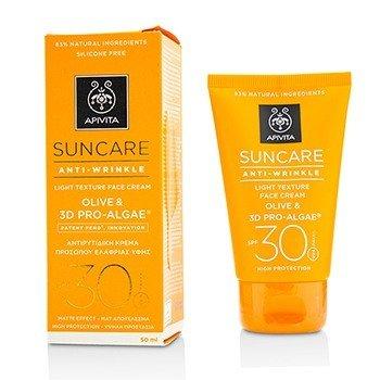 Apivita Crema Facial Textura Ligera Cuidado Solar Anti-ArrugasSPF 30  50ml