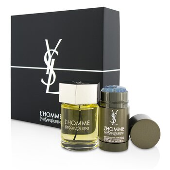 Yves Saint Laurent L'Homme Coffret: Eau De Toilette Spray 100ml/3.3oz + Deodorant Stick 75g/2.6oz  2pcs