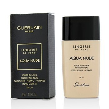 Guerlain Lingerie De Peau Aqua Nude Foundation SPF 20 - # 01W Very Light Warm  30ml/1oz