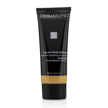 Dermablend Leg and Body Make Up Buildable Liquid Body Foundation Sunscreen Broad Spectrum SPF 25 - #Light Beige 35C  100ml/3.4oz