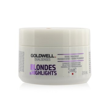 Goldwell Dual Senses Blondes & Highlights Tratamiento de 60seg (Luminosidad Para Cabello Rubio)  200ml/6.8oz