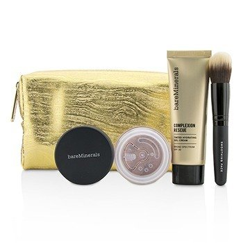 ベアミネラル Take Me With You Complexion Rescue Try Me Set - # 01 Opal  3pcs+1bag