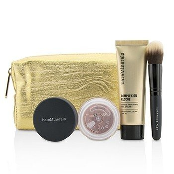 BareMinerals Take Me With You Complexion Rescue Try Me Set - # 03 Buttercream  3pcs+1bag