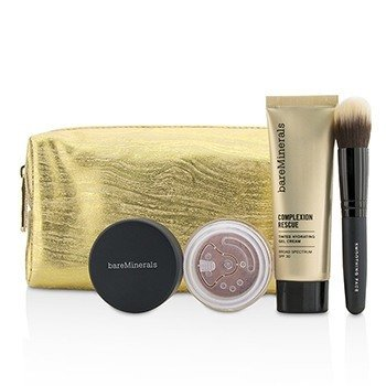 BareMinerals Set Take Me With You Complexion Rescue Try Me - # 05 Natural  3pcs+1bag