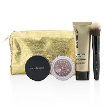 BareMinerals Set Take Me With You Complexion Rescue Try Me - # 07 Tan  3pcs+1bag
