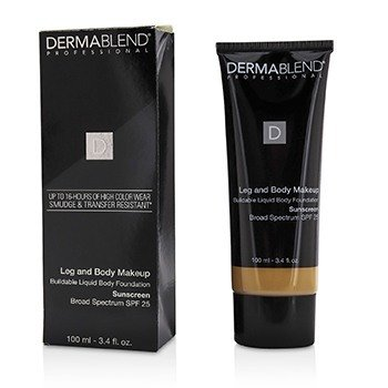 Dermablend Leg and Body Make Up Buildable Liquid Body Foundation Broad Spectrum SPF 25 - #Medium Golden 40W (Box Slightly Damaged)  100ml/3.4oz