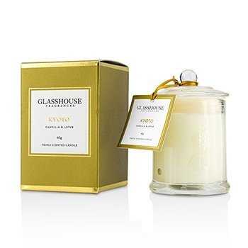 Glasshouse Triple Scented Candle - Kyoto (Camellia & Lotus)  60g