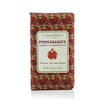 Crabtree & Evelyn Pomegranate, Argan & Grapeseed Triple Milled Soap  158g/5.6oz