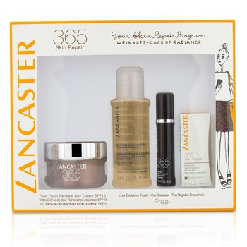 לנקסטר 365 Skin Repair Set: Youth Renewal Day Cream 50ml+ Serum Youth Renewal 10ml+ Eye Serum 3ml+ Express Cleanser 100ml  4pcs